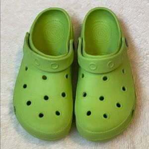 Rubber shoes crocs style size 38 ( 7.5-8 ) green